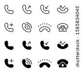 call icon collection vector...