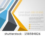 colorful template for... | Shutterstock .eps vector #158584826