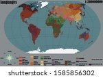 the thematic map of the earth | Shutterstock .eps vector #1585856302