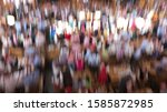 inside a crowded beer tent at... | Shutterstock . vector #1585872985