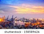 industrial container cargo...   Shutterstock . vector #158589626