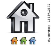 3d home icon sign vector.... | Shutterstock .eps vector #1585913872