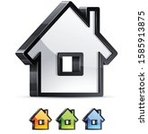 3d home icon sign vector.... | Shutterstock .eps vector #1585913875
