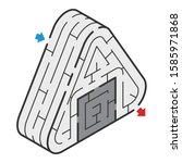 isometric maze of the rice ball | Shutterstock .eps vector #1585971868