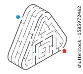 isometric maze of the rice ball | Shutterstock .eps vector #1585972462