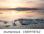Ice Floes On Lake Constance In...