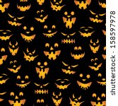 halloween background   teeth... | Shutterstock . vector #158597978