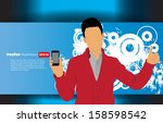 man using smartphone. vector | Shutterstock .eps vector #158598542