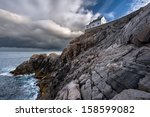 Krakenes Lighthouse Against A...