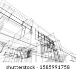 house building architecture... | Shutterstock .eps vector #1585991758