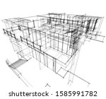 house building architecture... | Shutterstock .eps vector #1585991782
