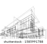 house building architecture... | Shutterstock .eps vector #1585991788