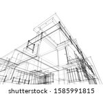 house building architecture... | Shutterstock .eps vector #1585991815