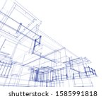 house building architecture... | Shutterstock .eps vector #1585991818