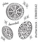 decorated plate | Shutterstock .eps vector #158600162