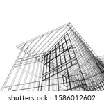 house building architecture... | Shutterstock .eps vector #1586012602