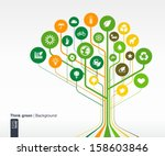 abstract ecology background... | Shutterstock .eps vector #158603846