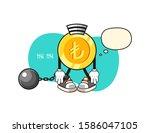 turkish lira gold coin prisoner ...   Shutterstock .eps vector #1586047105