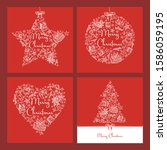 collection of christmast and... | Shutterstock .eps vector #1586059195