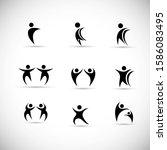 abstract people logo set. human ...   Shutterstock .eps vector #1586083495