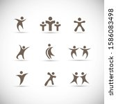abstract people logo set. human ...   Shutterstock .eps vector #1586083498