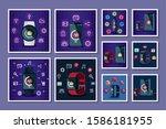 bundle of technology gadget... | Shutterstock .eps vector #1586181955