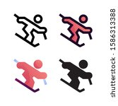 skating logo icon design in...