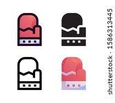 glove logo icon design in four...