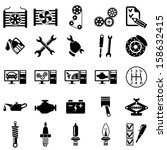 auto repair icons | Shutterstock .eps vector #158632415