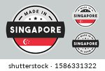made in singapore collection... | Shutterstock .eps vector #1586331322