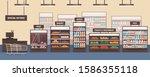 Supermarket Interior Flat...