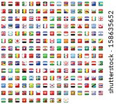 world flag collection | Shutterstock . vector #158635652