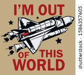 i'm out of this world   Shutterstock .eps vector #1586357605