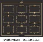 set of art deco vintage golden... | Shutterstock .eps vector #1586357668