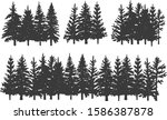 silhouettes of spruce.... | Shutterstock .eps vector #1586387878