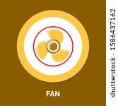 Vector Fan Engine Illustration...