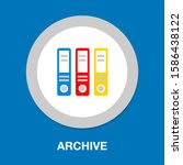 cabinet archive icon   vector... | Shutterstock .eps vector #1586438122