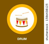 Drum Kit Vector Icon. Filled...