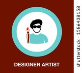 male artist icon  artistic... | Shutterstock .eps vector #1586438158