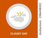 cloudy weather icon. flat...