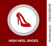 Vector High Heel Shoes Isolated ...
