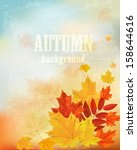 Abstract Retro Autumn...
