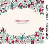 merry christmas holiday vintage ...   Shutterstock .eps vector #158646896