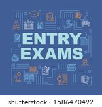 entry exam word concepts banner....