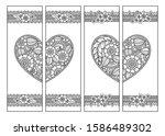 printable bookmark for book  ... | Shutterstock .eps vector #1586489302