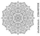circular pattern in form of... | Shutterstock .eps vector #1586489308
