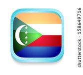 smart phone button with comoros ... | Shutterstock .eps vector #158649716