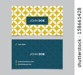 business card template  yellow...   Shutterstock .eps vector #158661428