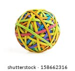 rubber band ball on white... | Shutterstock . vector #158662316