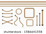 rope frame set isolated on... | Shutterstock .eps vector #1586641558